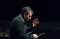 Thomas Ades conducting at the dress rehearsal of THE EXTERMINATING ANGEL by Thomas Ades opening at The Royal Opera, Covent Garden, London WC2 on 24/04/2017   music: Thomas Ades libretto: Tom Cairns &...