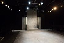 THE CARDINAL by James Shirley design: Anna Reid lighting: Peter Harrison director: Justin Audibert   stage,bare,set,empty,thrust,stone Southwark Playhouse, London SE1  28/04/2017            � Donald C...
