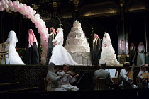 opening scene, entrance of brides and bridegrooms with members of the Orchestra of the Age of Enlightenment in HIPERMESTRA by Cavalli at Glyndebourne Festival Opera, East Sussex, England  20/05/2017...