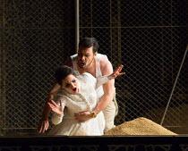 Emoke Barath (Hipermestra), Benjamin Hulett (Arbante) in HIPERMESTRA by Cavalli opening at Glyndebourne Festival Opera on 20/05/2017   Glyndebourne, East Sussex, England music: Francesco Cavalli libre...