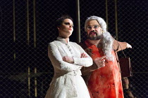 Emoke Barath (Hipermestra), Mark Wilde (Berenice) in HIPERMESTRA by Cavalli opening at Glyndebourne Festival Opera on 20/05/2017   Glyndebourne, East Sussex, England music: Francesco Cavalli libretto:...