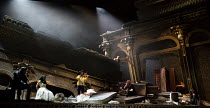 seated, hooded, 2nd left: Emoke Barath (Hipermestra) in HIPERMESTRA by Cavalli at Glyndebourne Festival Opera, East Sussex, England  20/05/2017  music: Francesco Cavalli  libretto: Giovanni Andrea Mo...