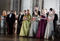 chorus of courtiers in HAMLET opening at Glyndebourne Festival Opera, East Sussex,England on 11/06/2017    music: Brett Dean libretto: Matthew Jocelyn after Shakespeare conductor: Vladimir Jurowski se...