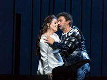 Maria Agresta (Desdemona), Jonas Kaufmann (Otello) in OTELLO by Verdi opening at The Royal Opera, Covent Garden, London WC2 on 21/06/2017 libretto: Arrigo Boito after Shakespeare's OTHELLO conductor:...