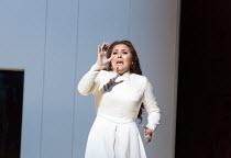 Maria Agresta (Desdemona) in OTELLO by Verdi opening at The Royal Opera, Covent Garden, London WC2 on 21/06/2017  libretto: Arrigo Boito after Shakespeare's OTHELLO conductor: Antonio Pappano set desi...