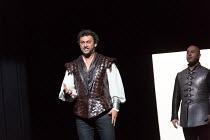 l-r:  Jonas Kaufmann (Otello), Marco Vratogna (Iago) in OTELLO by Verdi opening at The Royal Opera, Covent Garden, London WC2 on 21/06/2017 libretto: Arrigo Boito after Shakespeare's OTHELLO conductor...