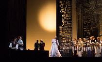 left: Jonas Kaufmann (Otello), Kai Ruutel (Emilia)  centre: Maria Agresta (Desdemona) in OTELLO by Verdi opening at The Royal Opera, Covent Garden, London WC2 on 21/06/2017 libretto: Arrigo Boito afte...