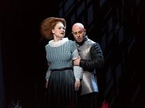 Kai Ruutel (Emilia), Marco Vratogna (Iago) in OTELLO by Verdi opening at The Royal Opera, Covent Garden, London WC2 on 21/06/2017 libretto: Arrigo Boito after Shakespeare's OTHELLO conductor: Antonio...