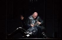 (front, in mask) Jonas Kaufmann (Otello), Marco Vratogna (Iago) in OTELLO by Verdi opening at The Royal Opera, Covent Garden, London WC2 on 21/06/2017 libretto: Arrigo Boito after Shakespeare's OTHELL...