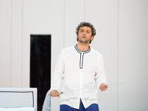 final scene: Jonas Kaufmann (Otello) in OTELLO by Verdi opening at The Royal Opera, Covent Garden, London WC2 on 21/06/2017 libretto: Arrigo Boito after Shakespeare's OTHELLO conductor: Antonio Pappan...