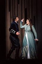 Jonas Kaufmann (Otello), Maria Agresta (Desdemona) in OTELLO by Verdi opening at The Royal Opera, Covent Garden, London WC2 on 21/06/2017 libretto: Arrigo Boito after Shakespeare's OTHELLO conductor:...