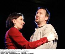 MACBETH   by Shakespeare   director: Andy Brereton ~Sarah Groarke (Lady Macbeth), Christopher Bowen (Macbeth) ~Southwark Playhouse, London SE1  27/01/2006          ~(c) Donald Cooper   photos@photosta...