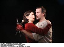 MACBETH   by Shakespeare   director: Andy Brereton ~Sarah Groarke (Lady Macbeth), Christopher Bowen (Macbeth)~Southwark Playhouse, London SE1  27/01/2006 ~(c) Donald Cooper   photos@photostage.co.uk...