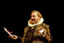 THE MERRY WIVES OF WINDSOR by Shakespeare  design: Tim Goodchild  lighting: Simon Tapping  director: Ian Judge   Leslie Phillips (Sir John Falstaff) Royal Shakespeare Company (RSC), Royal Shakespeare...
