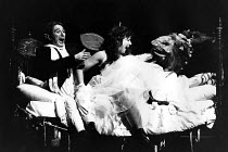A MIDSUMMER NIGHT'S DREAM by Shakespeare  design: Sue Blane  lighting: Alan Burrett  director: John Caird   l-r: John Carlisle (Oberon), Clare Higgins (Titania), David Troughton (Bottom)    LO-RES FOR...