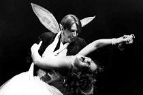 A MIDSUMMER NIGHT'S DREAM by Shakespeare  design: Sue Blane  lighting: Alan Burrett  director: John Caird   John Carlisle (Oberon), Clare Higgins (Titania)  LO-RES FOR SELECTION PURPOSES ONLY Royal Sh...