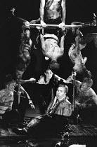 A MIDSUMMER NIGHT'S DREAM  by Shakespeare  design: Michael Levine  lighting: Jean Kalman  director: Robert Lepage   centre: Sally Dexter (Titania), Timothy Spall (Bottom)           Olivier Theatre,...