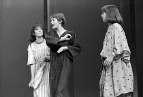 ANTONY AND CLEOPATRA   by Shakespeare   design: Sally Jacobs   director: Peter Brook   l-r: Paola Dionisotti (Charmian), Glenda Jackson (Cleopatra), Juliet Stevenson (Iras)  ** Lo-res uncorrected and...