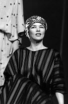 ANTONY AND CLEOPATRA   by Shakespeare   design: Sally Jacobs   director: Peter Brook   Glenda Jackson (Cleopatra) Royal Shakespeare Company (RSC), Royal Shakespeare Theatre, Stratford-upon-Avon, En...