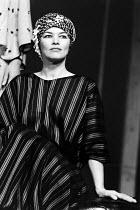ANTONY AND CLEOPATRA   by Shakespeare   design: Sally Jacobs   director: Peter Brook ~~Glenda Jackson (Cleopatra)~Royal Shakespeare Company (RSC), Royal Shakespeare Theatre, Stratford-upon-Avon, Engla...