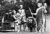 ANDROCLES AND THE LION  by Bernard Shaw  design: Hugh Durrant  direcors: Richard Digby Day & Ian Talbot centre: Chris Harris (Androcles), Philip Bowen (The Captain), Stephen Brigden (Lion)Open Air The...
