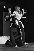 HAMLET   by Shakespeare   design: John Napier & Jeffrey Torrens   adapted & directed by Charles Marowitz   Nikolas Simmonds (Hamlet), Natasha Pyne (Ophelia) Open Space Theatre, London NW1  07/07/1969...