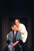 HAMLET by Shakespeare  design: Julian McGowan  lighting: Chris Clay  director: Philip Franks   Dinah Stabb (Gertrude), Michael Maloney (Hamlet) Greenwich Theatre, London SE10  23/10/1996 � Donald Coop...
