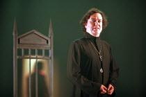HAMLET by Shakespeare  set design: Ruari Murchison  costumes: Lucy Weller  lighting: Tim Mitchell  director: Bill Alexander   Richard McCabe (Hamlet)  Birmingham Repertory Theatre (BRT), Birmingham, E...