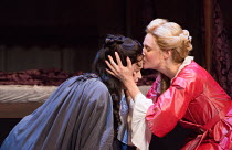 l-r: Emma Cunniffe (Anne - Princess, later Queen), Romola Garai (Sarah Churchill, later Duchess of Malborough) in QUEEN ANNE by Helen Edmundson opening at the Theatre Royal Haymarket, London SW1 on 10...