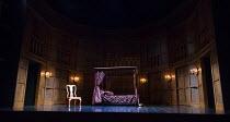 QUEEN ANNE  by Helen Edmundson  design: Hannah Clark  lighting: Charles Balfour  director: Natalie Abrahami   stage,full,empty,set Royal Shakespeare Company (RSC)  Theatre Royal Haymarket, London S...
