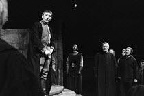 JULIUS CAESAR by Shakespeare design: John Bury lighting: David Hersey director: John Schlesinger    addressing the people: Mark McManus (Mark Antony) Olivier Theatre, National Theatre, London SE1 22/0...
