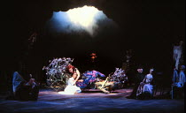 A MIDSUMMER NIGHT'S DREAM by Shakespeare Juliet Stevenson (Titania) with fairies Royal Shakespeare Company (RSC), Royal Shakespeare Theatre, Stratford-upon-Avon  09/07/1981 (c) Donald Cooper/Photos...