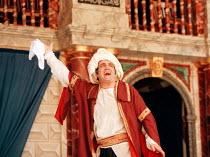 THE COMEDY OF ERRORS   by Shakespeare   design: Liz Cooke   Master of Verse: Tim Carroll  director: Kathryn Hunter  Vincenzo Nicoli (Antipholus of Ephesus / Antipholus of Syracuse)Shakespeare's Globe...