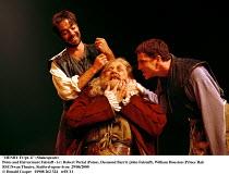 'HENRY IV/pt. ii' (Shakespeare) Poins and Hal torment Falstaff - l-r: Robert Portal (Poins), Desmond Barrit (John Falstaff), William Houston (Prince Hal) RSC/Swan Theatre, Statford-upon-Avon  29/06/...