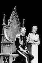HENRY VI by Shakespeare set design: Chris Dyer  costumes' Stephanie Howard  lighting: Mark Henderson  director: Michael Bogdanov Paul Brennan (Henry VI), June Watson (Queen Margaret)English Shakespear...