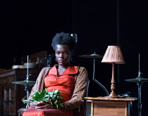 Sheila Atim (Marianne Laine) in GIRL FROM THE NORTH COUNTRY by Conor McPherson opening at the Old Vic Theatre, London SE1 on 26/07/2017 music & lyrics: Bob Dylan  design: Rae Smith lighting: Mark Hend...
