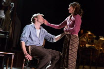 Sam Reid (Gene Laine), Shirley Henderson (Elizabeth Laine) in GIRL FROM THE NORTH COUNTRY by Conor McPherson opening at the Old Vic Theatre, London SE1 on 26/07/2017 music & lyrics: Bob Dylan  design:...