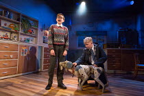 l-r: Benjamin Lewis (Adrian), Connor Davies (Barry) in THE SECRET DIARY OF ADRIAN MOLE AGED 13 3/4 - THE MUSICAL opening at the Menier Chocolate Factory, London SE1 on 26/07/2017 based on the novel by...