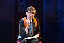 Benjamin Lewis (Adrian) in THE SECRET DIARY OF ADRIAN MOLE AGED 13 3/4 - THE MUSICAL opening at the Menier Chocolate Factory, London SE1 on 26/07/2017 based on the novel by Sue Townsend  book & lyrics...