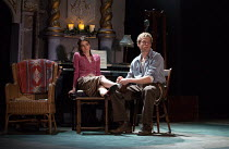 Shirley Henderson (Elizabeth Laine), Sam Reid (Gene Laine) in GIRL FROM THE NORTH COUNTRY  by Conor McPherson opening at the Old Vic Theatre, London SE1 on 26/07/2017 music & lyrics: Bob Dylan  design...