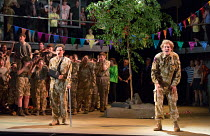 returned from battle, injured and traumatised - l-r: James Way (Davey), Sam Furness (Jack) in the world premiere of Roxanna Panufnik's opera SILVER BIRCH opening at Garsington Opera at Wormsley, Oxfor...