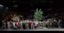 the company of professional and community singers in the world premiere of Roxanna Panufnik's opera SILVER BIRCH opening at Garsington Opera at Wormsley, Oxford, England on 28/07/2017   music: Roxanna...