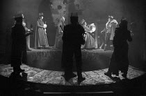 MACBETH by Shakespeare  design: Carl Toms  masks: Mark Wheeler  director: Frank Dunlop IV/i - Macbeth/witches/apparitions -  rear right: MacbethYoung Vic Theatre, London SE1  1975(c) Donald Cooper/Pho...