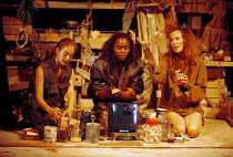 MACBETH by Shakespeare  design: Ruari Murchison  lighting: Tim Mitchell  choreographer: Pat Garrett  fights director: Richard Ryan  director: Bill Alexander  the witches, l-r: Katherine Oliver, Rakie...