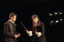 MACBETH by Shakespeare  set design: Franziska Wilcken  costumes: Heather Leat  lighting: Ben Ormerod  director: Stephen Unwin ~Paul Higgins (Macbeth), Hilary Lyon (Lady Macbeth)~English Touring Theatr...
