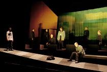 MACBETH by Shakespeare design: Stewart Laing lighting: Mimi Jordan Sherin fights arranger:Terry King director: Tim Albery   front right: Colum Convey (Macduff) Royal Shakespeare Company (RSC), Royal...