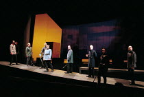 MACBETH by Shakespeare design: Stewart Laing lighting: Mimi Jordan Sherin fights arranger:Terry King director: Tim Albery   centre: Colum Convey (Macduff) Royal Shakespeare Company (RSC), Royal Shak...