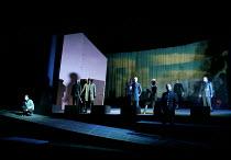 MACBETH by Shakespeare design: Stewart Laing lighting: Mimi Jordan Sherin fights arranger:Terry King director: Tim Albery   3td left: Colum Convey (Macduff) Royal Shakespeare Company (RSC), Royal Sh...