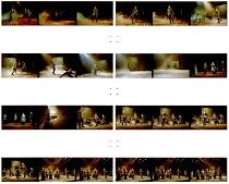 MACBETH by Shakespeare  design: Bruno Santini  lighting: Ben Ormerod  director: James Roose-Evans   Peter Lindford (Macbeth), Cathy Owen (Lady Macbeth) Ludlow Festival, Ludlow Castle  26/06/2001 (c) D...