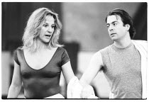 Penny Downie (Titania) and Roger Allam (Oberon) in rehearsal for the 1983 RSC NatWest Tour production of A MIDSUMMER NIGHT'S DREAM by Shakespeare   Royal Shakespeare Company (RSC), The Other Place, St...